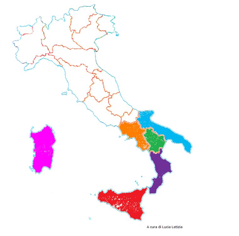 Cartina Sud Italia E Isole.L Italia Del Sud E Le Isole